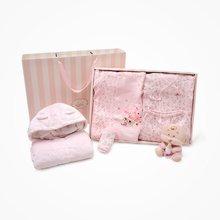丑丑婴幼 女童秋季绑带哈衣连体衣保暖护肚围卡通睡袋衣五件礼盒