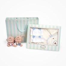 丑丑婴幼 0--3岁宝宝洗漱用品礼盒装面巾吸汗巾浴巾五件套礼盒装