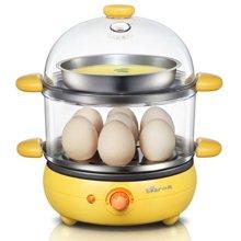 Bear/小熊煮蛋器ZDQ-2191 双层蒸蛋器全不锈钢煎蛋器多功能