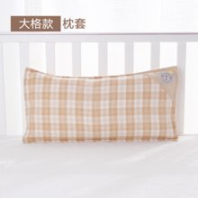 威尔贝鲁 婴儿枕巾宝宝纯棉纱布透气枕头套 新生儿吸汗排湿枕巾