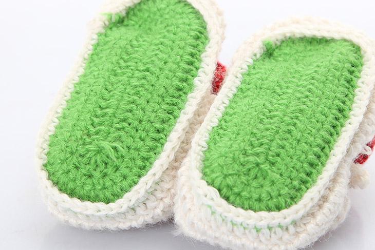 勾婴儿鞋子的图解