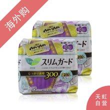 【2包装】日本花王LAURI乐而雅夜用护翼型卫生巾 30cm*15片/包