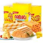 印尼进口 丽芝士纳宝帝芝士奶酪威化饼干夹心卷玉米棒3盒装