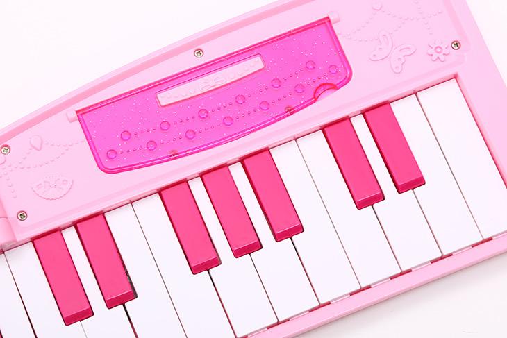伟宏源 芭比barbie儿童电子琴玩具带麦克风电源usb供电37键手提电子琴