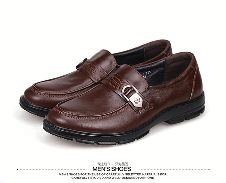 男鞋 2015年春季新款英伦日常头层牛皮休闲皮鞋(cs