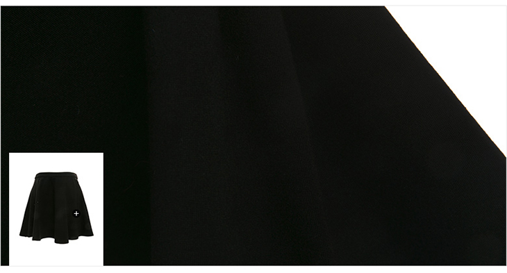2016春季新款纯黑色显瘦高腰休闲半裙