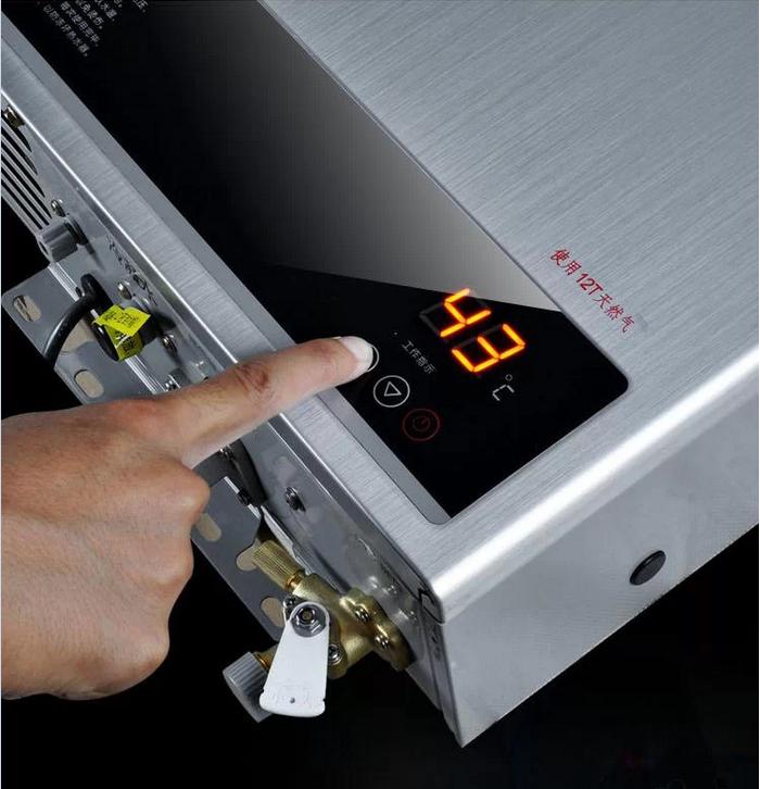 万和燃热jsq21-12v3 12升 节能冷凝恒温型强制强排式燃气热水器(带图片