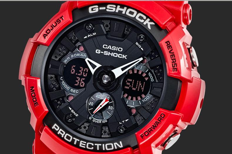 正品卡西欧手表g shock男猴年运动石英表炫酷男表本命年红ga-110r-gd