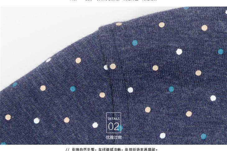 千纸鹤男装2016夏季新品男士商务印花休闲polo衫修身弹力t恤2018-深蓝