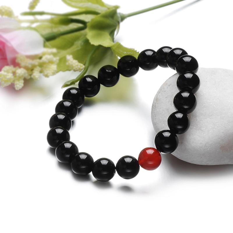 lux-women 玛瑙手链-心心相印男款10mm