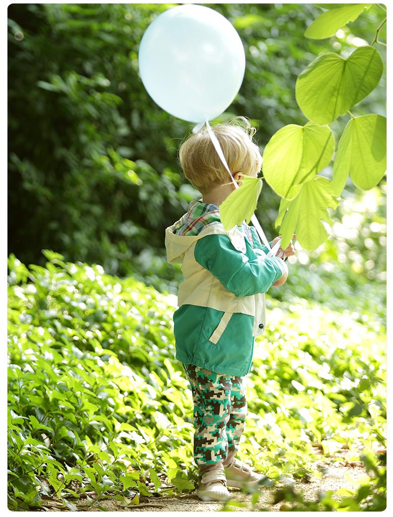 丑丑婴幼男童服装1 5岁前开外套春季新品新款休闲时尚男宝宝外套 100 深绿