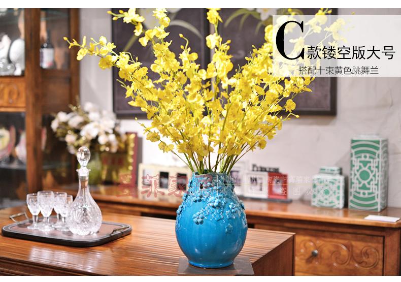 墨菲手工欧式花瓶摆件客厅家居装饰工艺品陶瓷现代器