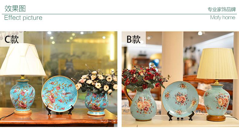 欧式摆件三件套陶瓷家居装饰品简约现代创意酒柜客厅工艺品 送花-b款