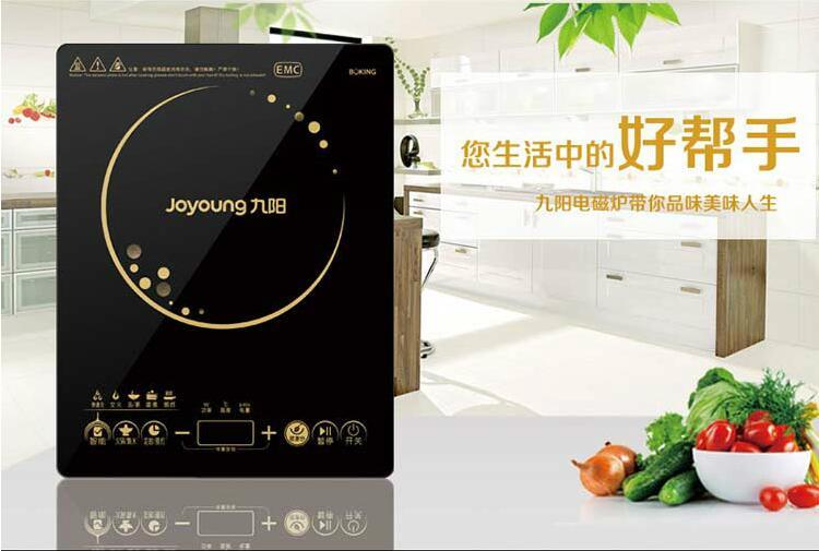 九阳 Joyoung C21 SC016电磁炉触摸式超薄多功能家用 黑色 虹领巾