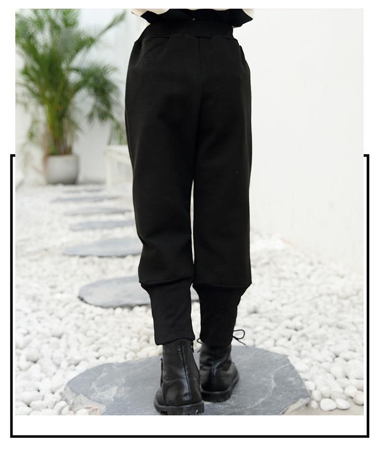 芃拉童装女童裤子秋冬装加厚2017中大童韩版哈伦长裤保暖儿童灯笼裤