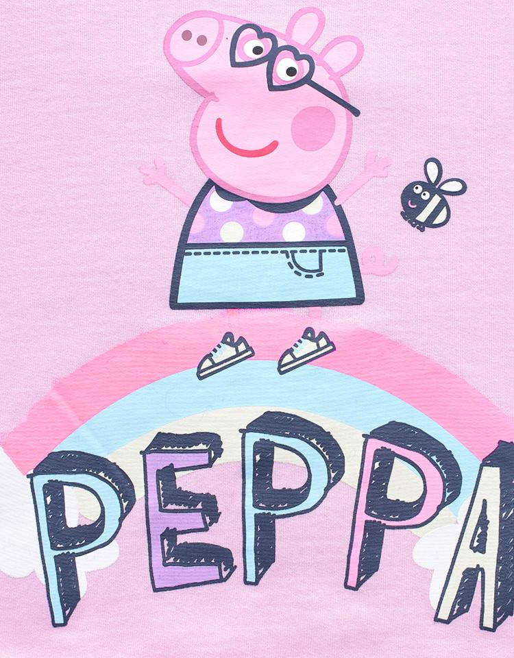 小猪佩奇品质胶印图案,萌趣可爱,宝贝穿着萌萌哒