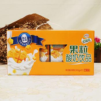 伊利金典纯牛奶 250ml 12 伊利果粒酸奶饮品芒果味 245g 12图片