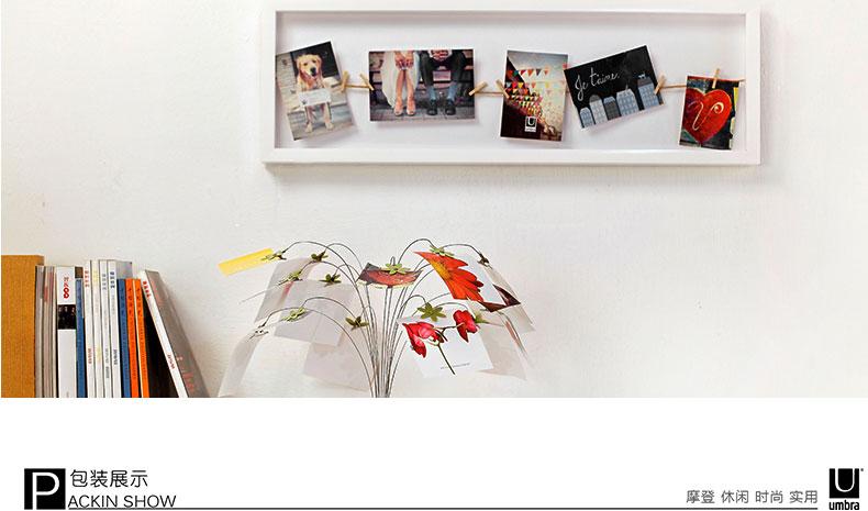 clothesline 晾衣绳展示墙式相框-72.4*24.2*3.5cm-白色