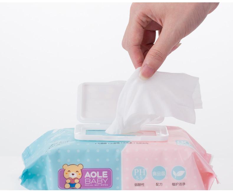 好孩子 婴儿湿巾婴幼儿宝宝手口专用木糖醇湿纸巾80抽图片