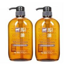 【2瓶装】日本熊野 无硅油脂 马油洗发水600ml