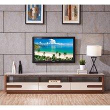 皇家爱慕现代简约客厅钢化玻璃电视柜仿木纹时尚地柜928