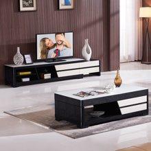 皇家爱慕现代简约客厅钢化玻璃伸缩电视柜032