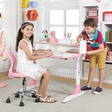 雅客集学习桌智慧之星带抽书架儿童成长书桌(粉红色) 桌椅套装PA-15033PI