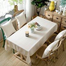 芒更家纺 北欧素雅格调纯色系列 竹节麻桌布-小米黄