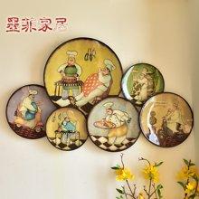墨菲 美式田园客厅装饰壁挂 复古创意铁艺花鸟客厅餐厅装饰壁挂