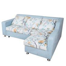 【 带贵妃位小户型客厅沙发】雅客集百丽儿收纳沙发床FB-16036BU