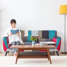皇家爱慕布艺沙发客厅组合小户型现代创意三人沙发 北欧宜家双人沙发