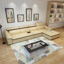 皇家爱慕现代简约客厅真皮沙发组合整装 大小户型转角头层牛皮沙发