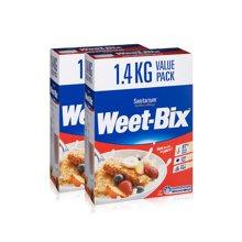 2盒装 澳大利亚WEET-BIX即食低脂谷物麦片欢乐颂女神同款 1.4kg/盒