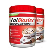 【健康瘦身】【2瓶】澳洲Fatblaster极塑 代餐奶昔甩脂奶昔 摩卡味430g