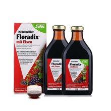 【2瓶装】德国Salus Floradix 铁元 红铁元营养液500ml 补铁补血