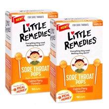 【2盒装】【美国】little remedies天然蜂蜜儿童止咳棒棒糖10只