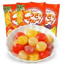 马来西亚进口 可康牌多口味果汁糖140g*3包  结婚庆喜糖休闲零食儿童儿时