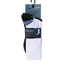 奥百思专业运动袜-男式长筒(2对装)(24-26cm)