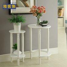 【实木白色可作茶几边桌】雅客集贝拉圆形套二桌WN-14250