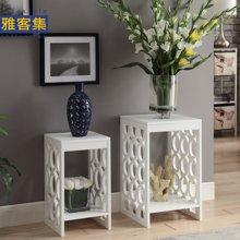 【雕花时尚套桌】雅客集贝拉白色镂空套二桌WN-14248