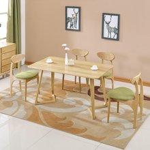 皇家爱慕北欧圆形餐桌可伸缩折叠钢化玻璃面餐桌椅组合餐厅家具大圆桌子