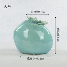 墨菲 新中式韵味陶瓷花瓶 摆件客厅现代简约欧式创意装饰品插花器