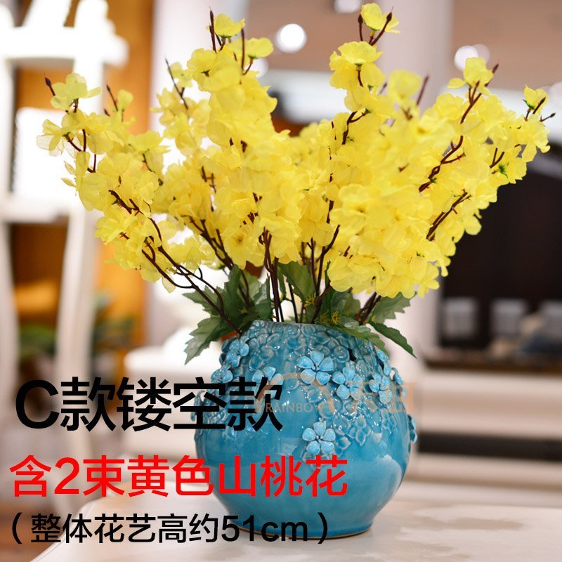 墨菲手工欧式花瓶摆件客厅家居装饰工艺品陶瓷现代简约创意插花器-c款