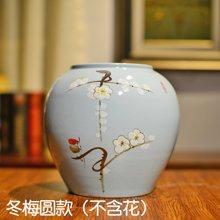 墨菲新中式现代简约手工陶瓷水培花瓶客厅电视柜酒柜家居装饰摆件
