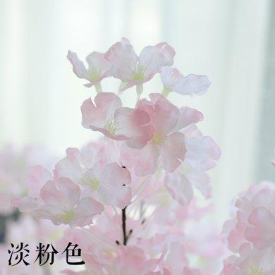 客厅摆件樱花 欧式家居装饰品室内花瓶干花艺