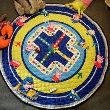 INS圆形收纳地垫宝宝玩具游戏垫子野餐垫家用装饰地垫