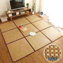 日式折叠拼接地垫夏天藤席榻榻米凉席卧室宝宝地毯儿童拼图爬行垫