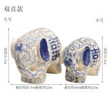 墨菲 情人礼物新中式青花瓷对象家居装饰品创意客厅玄关陶瓷酒柜电视柜摆件