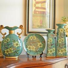 墨菲 美式乡村四件套装饰工艺品家居创意陶瓷客厅电视柜酒柜摆件