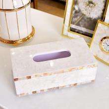 墨菲 简约现代创意贝壳纸巾盒抽纸盒欧式客厅卧室床头桌面餐巾纸盒